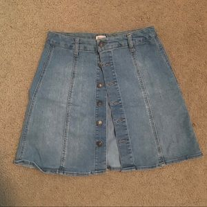 Mossimo (Target Brand) Button Up Jean Skirt